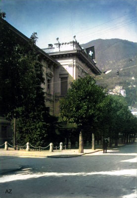 Palais de Justice, Locarno, 1925. Image Colourized by Anthony Zois.