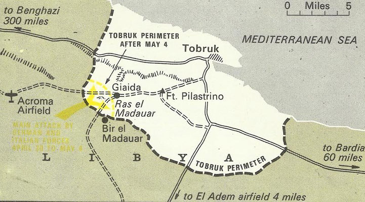Map of the war campaigne at Tobruk