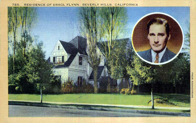 Errol Flynn's  home in Beverley Hills