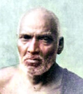 Perfect Master Upasni Maharaj.  Image colourized by Anthony Zois.