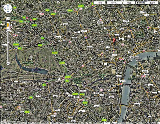 26 West Street London - location marked with red pointer