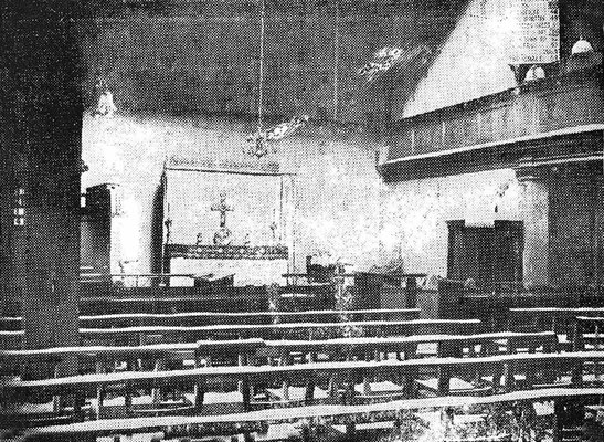 Interior of the Wesley Church at 26 West Street London - Courtesy of Paul Edwards