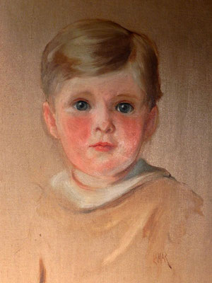 Young boy with blue eyes