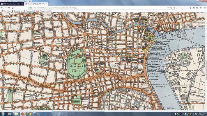 Central Shanghai map