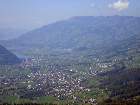 the view from the Fallenfluh towards Schwyz - Courtesy of Felix Schmid