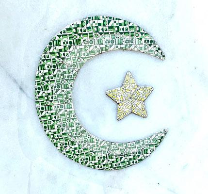 Crescent Moon & Star symbol represents the Islamic faiths