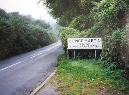 The road approaching Combe Martin - 2010.  Photo taken by Eric Tepperman.