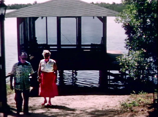 1956 ; Meher Center, Myrtle Beach, SC. ; The Boat house on the Center. The images were captured by Anthony Zois from a film by Sufism Reoriented.
