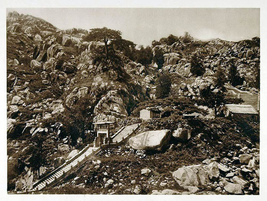 Mt. Tai - 1926 Sacred Mount Summit Stone Stairway Shantung, China