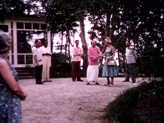 1956 ; Meher Center, Myrtle Beach, SC. 1956 ; Baba with Marion who was the organizer for his visit. The images were captured by Anthony Zois from a film by Sufism Reoriented.