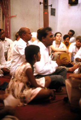 Madhusudan & Eastern musicians. Courtesy of Larry & Rita Karrasch