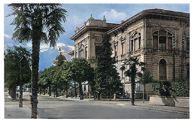 Palace of Justice Locarno, 1925.  Image Colourized by Anthony Zois.