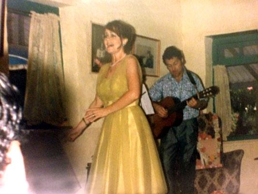 Sam Saunders & Raine performing in Mandali Hall, Meherazad, India. Courtesy of Rainy Day Designs
