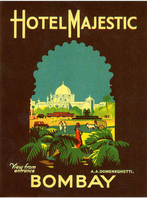 Majestic Hotel, Bombay, India poster