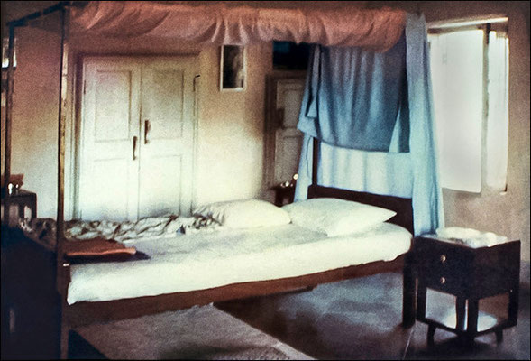 Meher Baba's bedroom, early days of February 1969 - photo by Don Stevens,courtesy of Martin Cook
