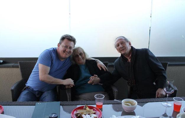 June 2014 - Melbourne, Australia. Mark McCammon with Sofie & Jim Miskia. Photo taken by Anthony Zois