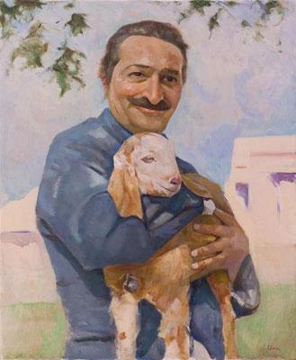 Baba and Alwar goat