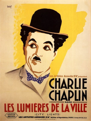 "French poster of  ""City Lights"""