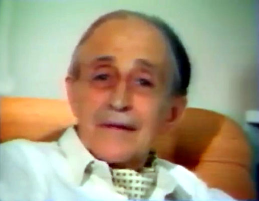 "Still of Roger taken from the video ""Meher Baba in France"" - 1989"