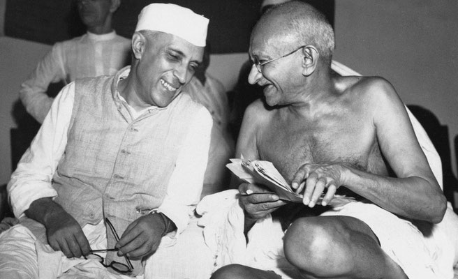 Gandhi with Pandit Jawaharlal Nehru was an Indian independence activist, and subsequently, the first Prime Minister of India