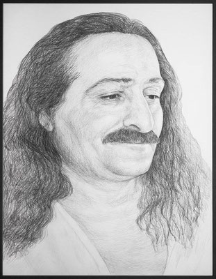 Pencil drawing of Meher Baba, 1930's