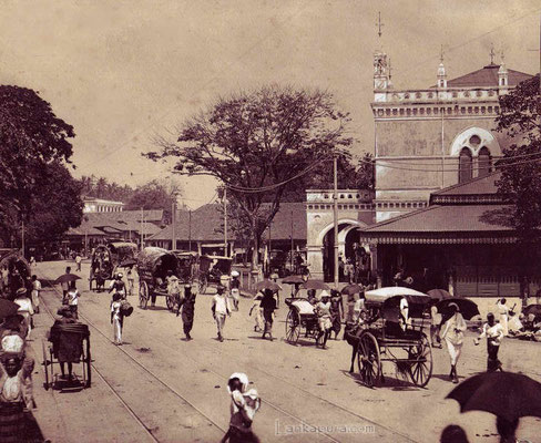 Ceylon busy scene-1900