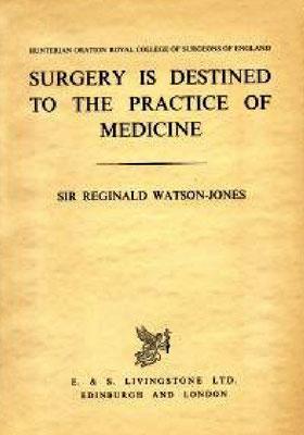 Book written by Sir Reginal Watson-Jones