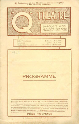 Q Theatre programme