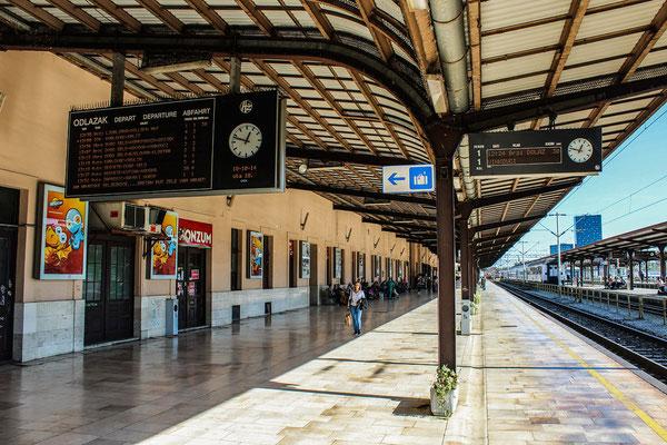 Zagreb Glavni kolodvor or Zagreb main station platform