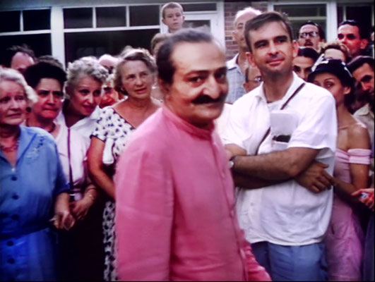 1956 ; Meher Center, Myrtle Beach, SC. ; Meher Baba in the Meher Abode compound.  The images were captured by Anthony Zois from a film by Sufism Reoriented.