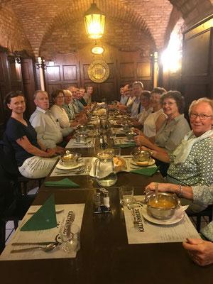 Abendessen im Restaurant Kaltenberg