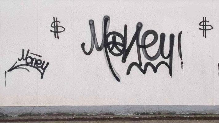 MONEY - Geld. Zero Money - Kein Geld.