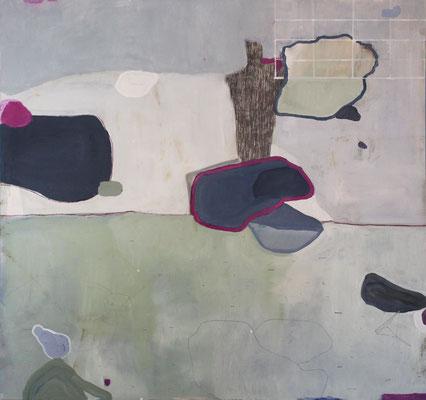 Il risveglio di Nettuno | tecnica mista su pioppo | 75x75 | 2017 | courtesy Galleria Studio d'Arte Cannaviello
