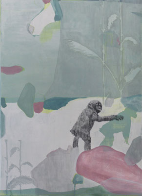 Il Grande Santo | tecnica mista su lino | 70x50 | 2017 | courtesy Galleria Studio d'Arte Cannaviello