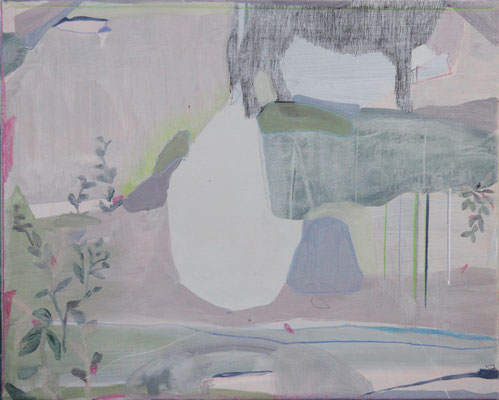 Andante | tecnica mista su tela | 40x50 | 2019
