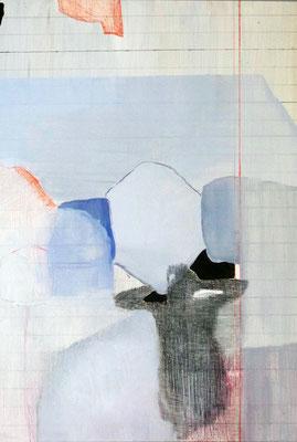 Appunti marini | tecnica mista pino | 51x36 | 2015 | courtesy Galleria Studio d'Arte Cannaviello