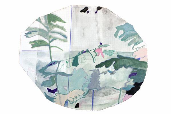 Adonie | tecnica mista su carta | 56x67 | 2017 | Collezione privata