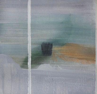 Senza titolo #1 | tecnica mista su pino | 30x30 | 2015