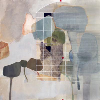 Istante mitico | tecnica mista su pioppo | 80x80 | 2015 | courtesy Galleria Studio d'Arte Cannaviello