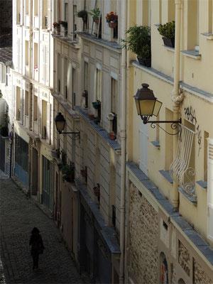 Una scalinata di Montmartre