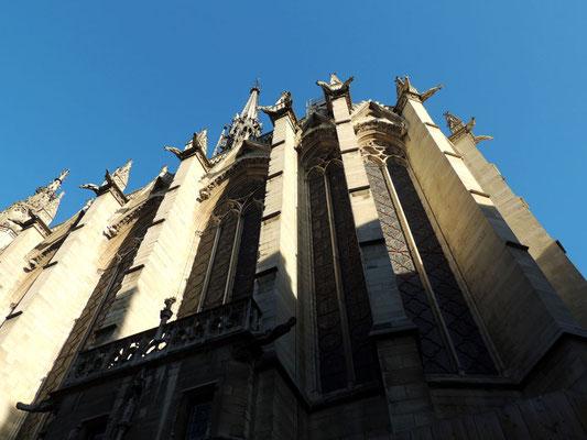 Détail de l'extérieur de la Sainte Chapelle