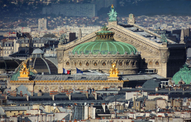 L'Opéra Garnier vista da Notre-Dame