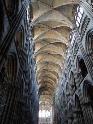 La voûte de la cathédrale Notre-Dame de Rouen