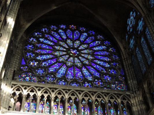 La rose du transept Nord