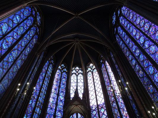 L'intérieur de la chapelle haute