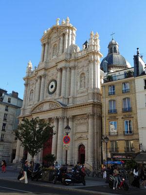 La facciata della chiesa Saint Paul - Saint Louis