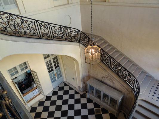 La scalinata del Palazzo Biron
