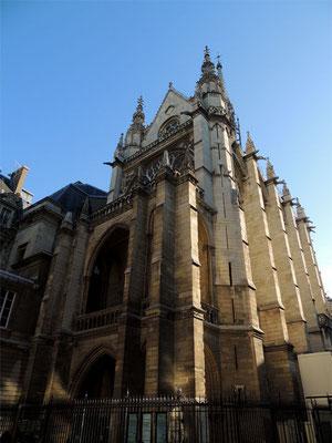 L'extérieur de la Sainte Chapelle
