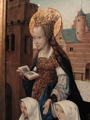 Un panneau du triptyque de la messe de saint Grégoire