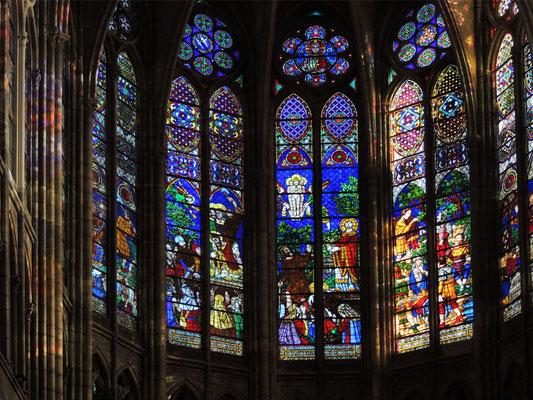 Le vetrate del coro